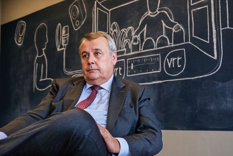 Paul Lembrechts, destijds VRT-baas, zette Bart De Pauw aan de deur. Beeld Tim Dirven