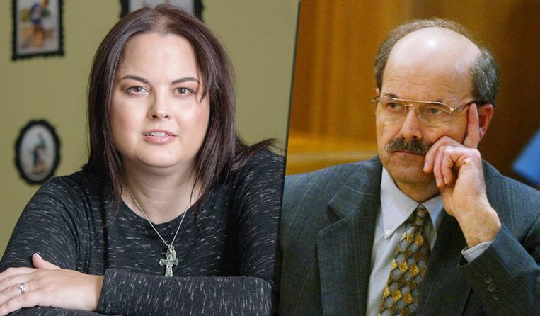 Links: dochter Kerri Rawson. Rechts: Dennis Rader.