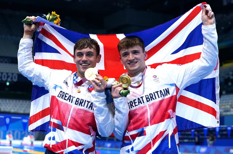 Tom Daley (links) en Matty Lee. Beeld Photo News