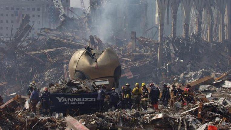 The Sphere vlak na de aanslagen van 11 september 2001. Beeld Reuters