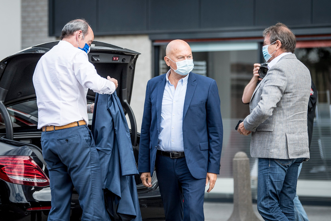 Onder meer Michel Louwagie (KAA Gent) is in Eindhoven.