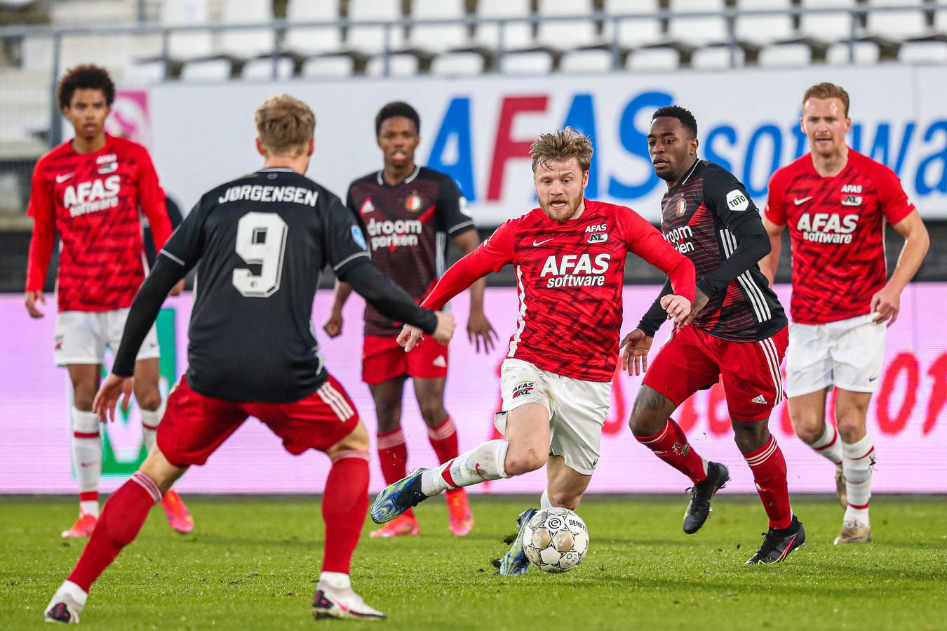 Fredrik Midtsjø afgelopen zondag in actie bij de 4-2 zege op Feyenoord.