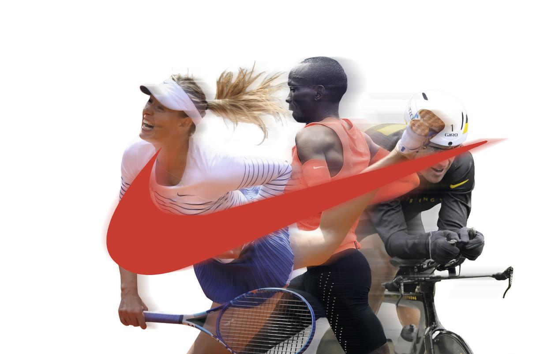 Maria Sjarapova, Eliud Kipchoge en Lance Armstrong, het zijn maar enkele van de wereldtoppers met wie Nike ooit een sponsordeal sloot. Beeld DM