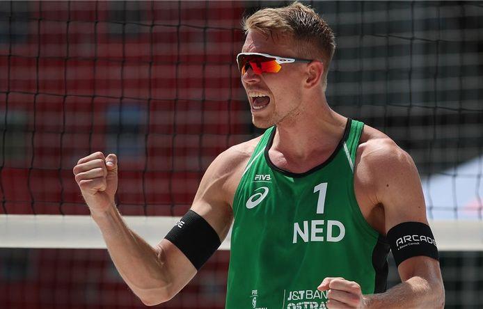 Stefan Boermans balt de vuist na weer een punt tijdens het viersterrentoernooi in het Tsjechische Ostrava.