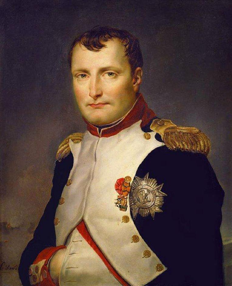 Een portret van Napoleon Bonaparte uit 1813 door Franse kunstschilder Jacques-Louis David. Beeld anp