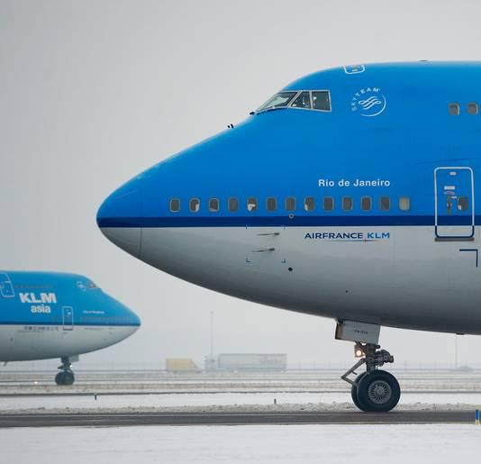 KLM houdt toestellen aan de grond.