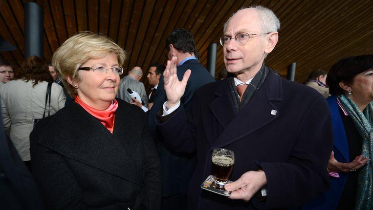 Herman Van Rompuy met zijn vrouw in 2012.