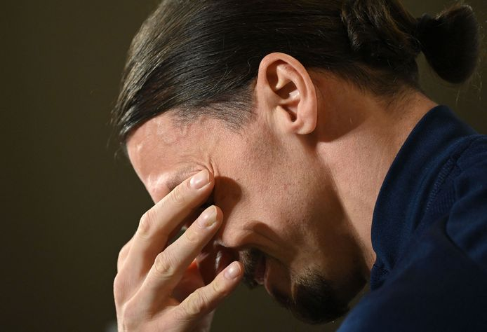 Zlatan Ibrahimovic mist het EK.