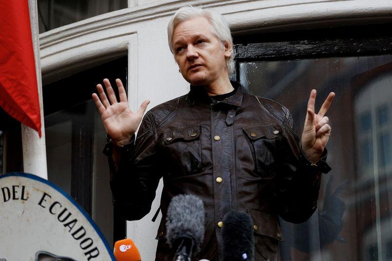Julian Assange in 2017. Beeld REUTERS