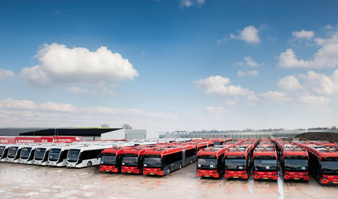 In 2018 leverde VDL 100 elektrische bussen voor Amsterdam en Schiphol.