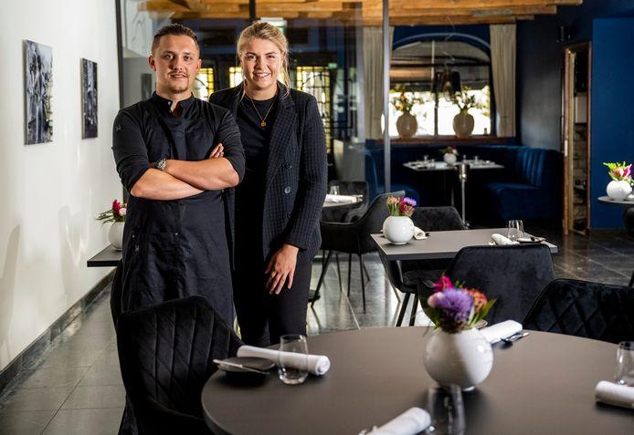 Begin deze maand startten Kelvin de Pijper (29) en Denise van der Mijn (23) het nieuwe restaurant On Cru. Foto: Frank de Roo