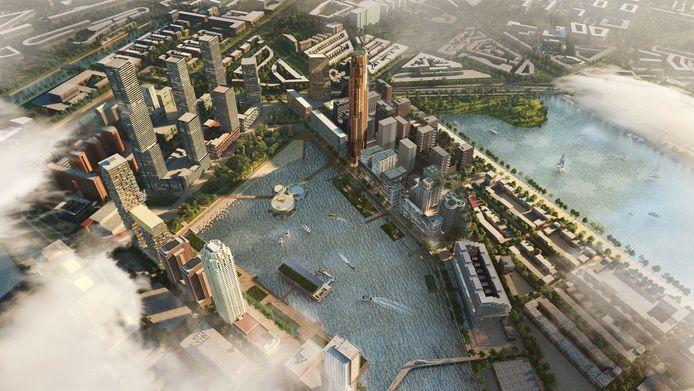 Impressie van de nieuwe wijk.