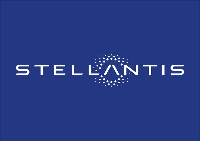 Het logo van Stellantis.
