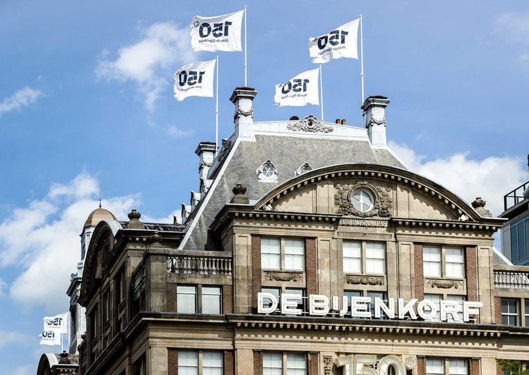 Exterieur van De Bijenkorf in Amsterdam. Beeld ANP