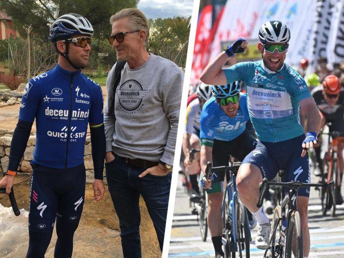 Links: Cavendish en Holm. Rechts: Cavendish na zijn tweede zege in Turkije.