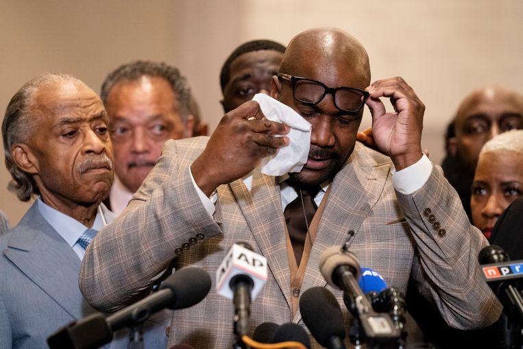 George Floyds broer Philonise Floyd na de uitspraak. Beeld AP