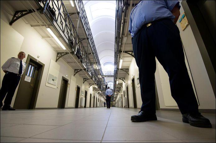 Un couloir de la prison de Saint-Gilles.