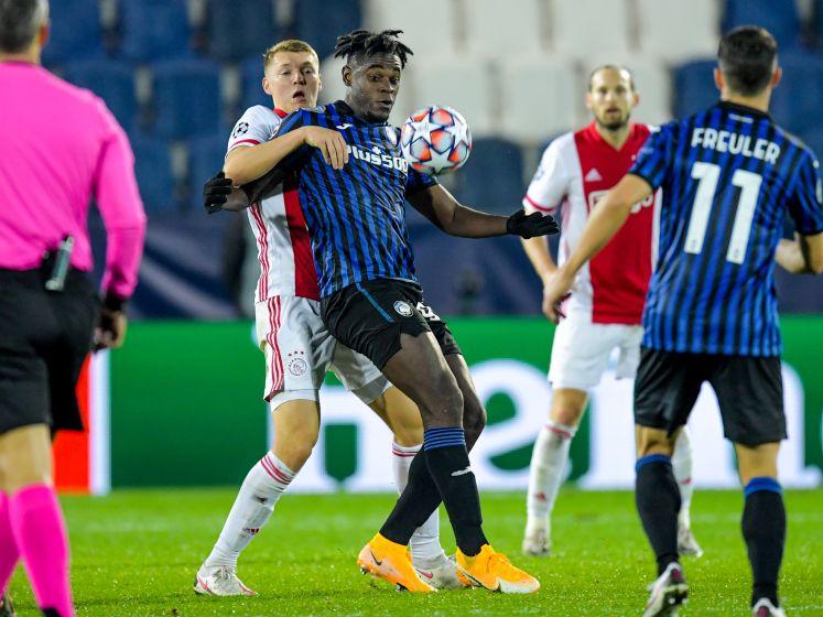 Ajax geeft comfortabele voorsprong uit handen in Bergamo