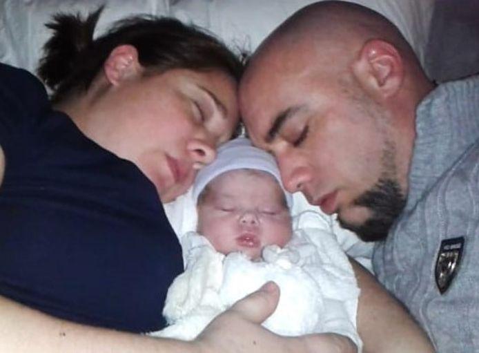 Marloes en Chris Schuiling, ouders baby Luna.