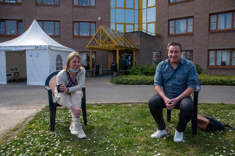 Interview met directrice Els Meuleman en voorzitter Christoph Van De Wiele op veilige afstand.