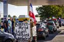Boeren verzamelden zich vorige maand nog om bij het RIVM te protesteren.
