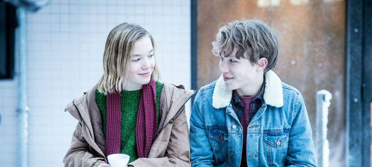 Cécilia Vos en Teun Stokkel in 'Gips'. Beeld