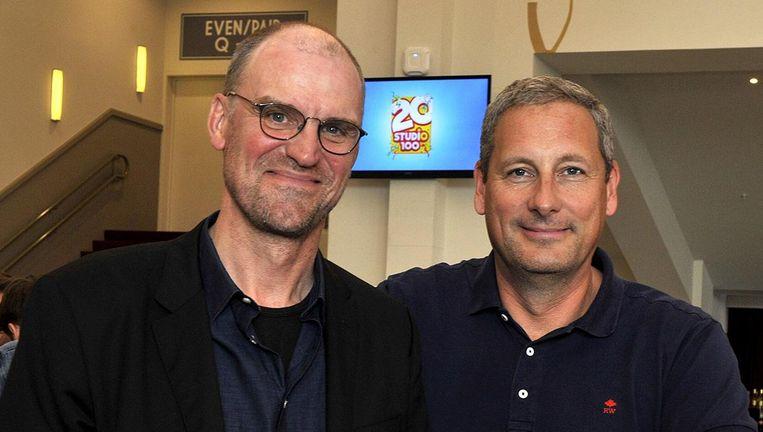 De twee oprichters van Studio 100, Hans Bourlon en Gert Verhulst. Beeld photo_news
