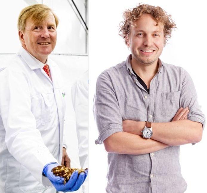 Koning Willem-Alexander stond met z'n hand vol larven, en columnist Niels Herijgens dacht aan een toepassing van de eikenprocessierups
