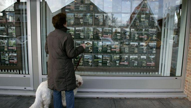 In het afgelopen half jaar hebben Amsterdamse makelaars hun kantoren ingekrompen of gesloten. Foto GPD Beeld