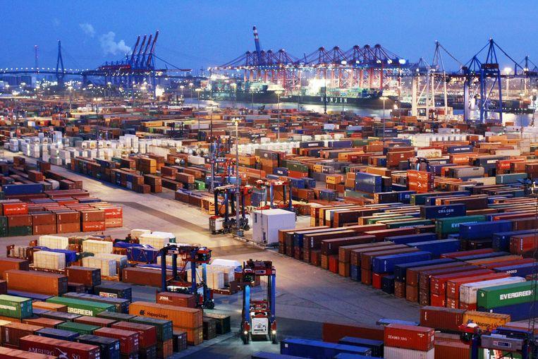 De haven van Hamburg. Beeld AFP