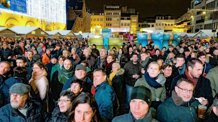 Er was veel volk op de nieuwjaarsreceptie.