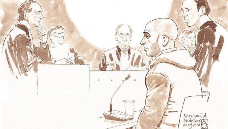 Benaouf A. in de rechtbank. Beeld Aloys Oosterwijk