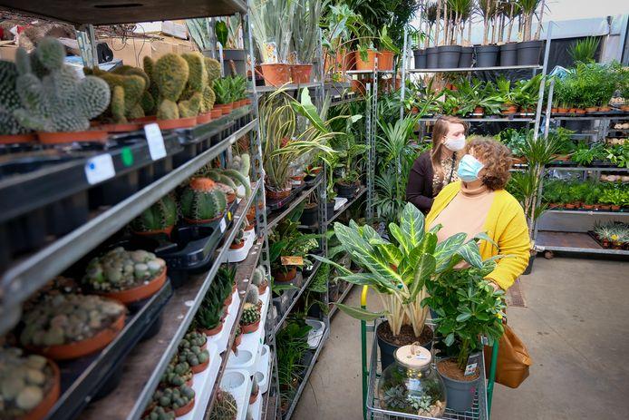 De 'gelukkigen' kregen dertig minuten de tijd om te shoppen bij Bloemen Robberechts.
