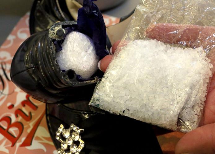 In de woning in Tilburg werd ook crystal meth gevonden, een drug die in Nederland weinig voorkomt.