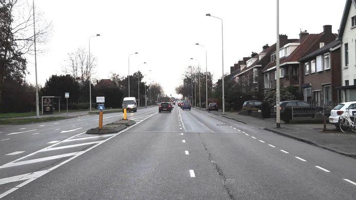 De Graafseweg in Nijmegen. Door de coronacrisis loopt het besluit over versmalling maanden vertraging op.