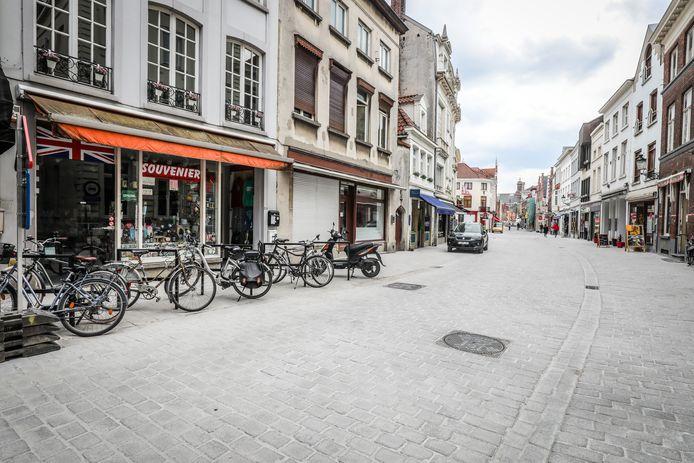 De Katelijnestraat in Brugge is zo goed als klaar.