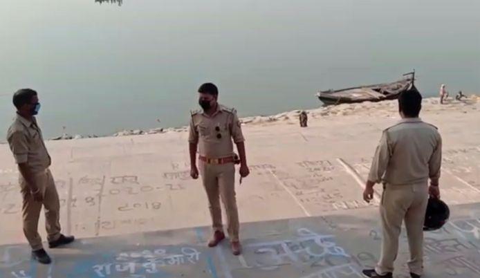 Le Gange à Ghazipur, dans l'État de l'Uttar Pradesh.