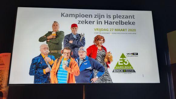 De nieuwe banner van de E3 BinckBank Classic is een knipoog naar FC De Kampioenen.