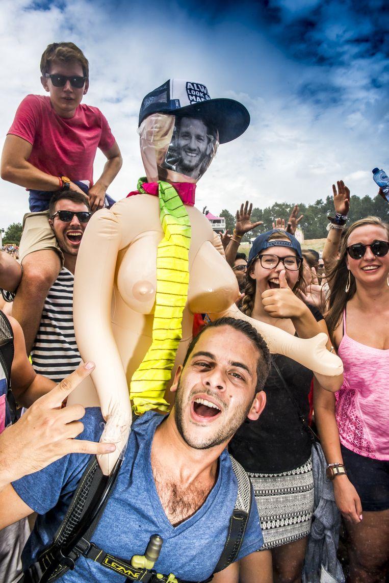 Een vrij verontrustend beeld vanop Tomorrowland. Beeld Stefaan Temmerman