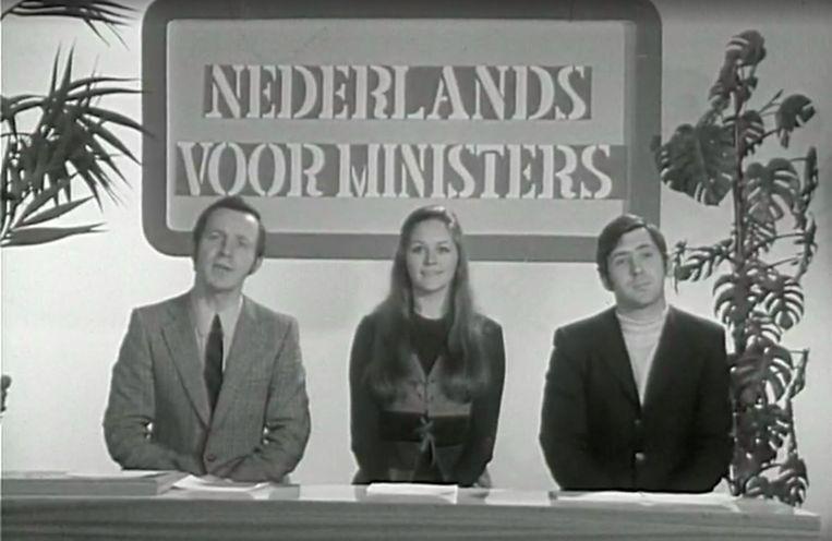 Walter Capiau (links), Kris Smet (midden) en Johny Voners (rechts) in 'Magesien'. Beeld RV
