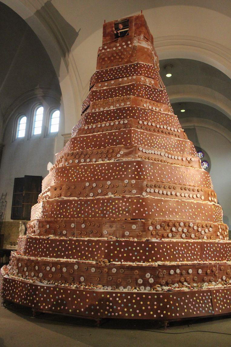 De taart van Tom Waes en Griet Huygens.