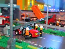 Rampenstad van LEGO bij brandweer in Driebergen