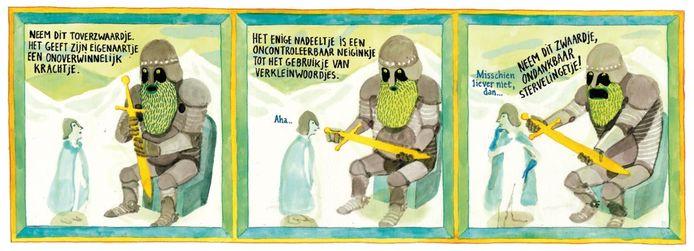 Eén van de vele illustratiewerken van Brecht Evens.