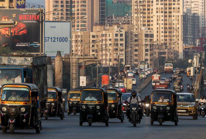 Vue d'une autoroute à Mumbai, en Inde.