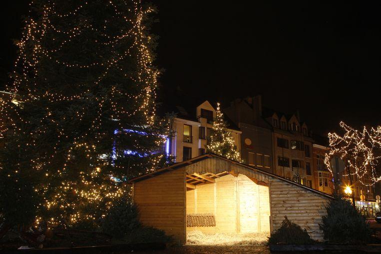 De kerststal moet het sinds gisteren zonder beelden stellen.