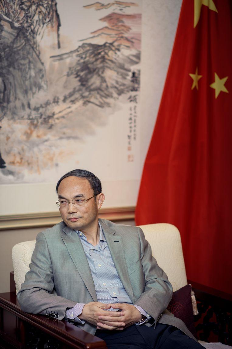 Ambassadeur Cao Zhongming in oktober 2019 Beeld TIM COPPENS
