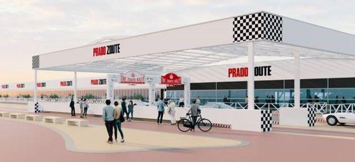 De Prado Zoute wordt een indrukwekkend paviljoen van 8.200 vierkante meter op het strand van Knokke-Heist.