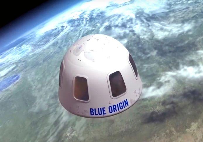 De capsule waarin de ruimtetoeristen zullen vertoeven.