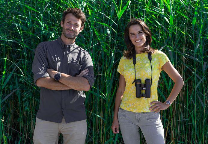 L'aventurier Tom de Dorlodot et l'experte en nature Virginie Hess.