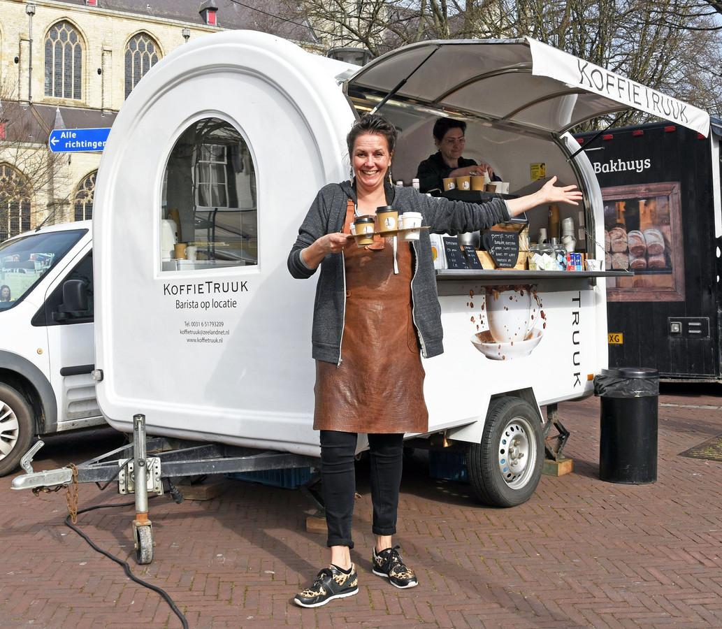 Catelijne Quaak, barista van de Koffie Truuk